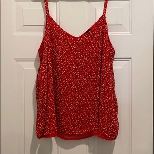 Torrid Red Floral Double Layer Swing cami